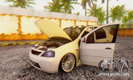 Dacia Logan ZYCU para GTA San Andreas vista hacia atrás