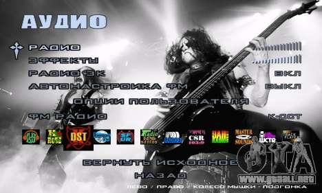 Metal Menu - Immortal (Live) para GTA San Andreas quinta pantalla