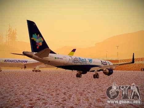 Embraer E190 Azul Tudo Azul para la visión correcta GTA San Andreas