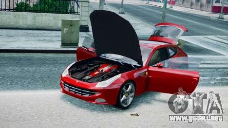 Ferrari FF para GTA 4 Vista posterior izquierda