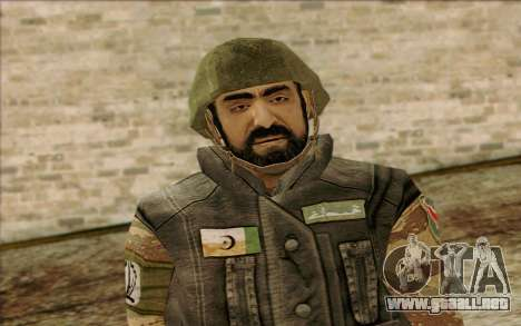 Soldados de MEK (Battlefield 2) la Piel de 1 para GTA San Andreas tercera pantalla