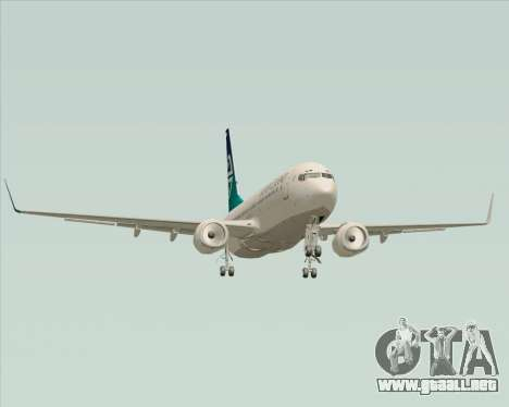 Boeing 737-800 Air New Zealand para la vista superior GTA San Andreas