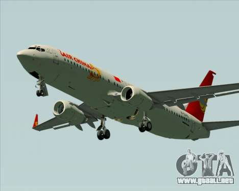 Boeing 737-89L Air China para vista lateral GTA San Andreas