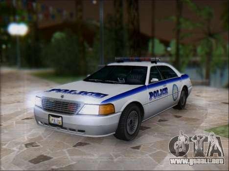 Admiral Police para GTA San Andreas vista posterior izquierda