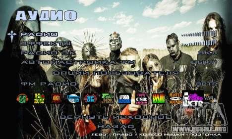 Metal Menu - Slipknot para GTA San Andreas sexta pantalla