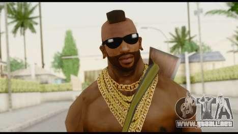 MR T Skin v7 para GTA San Andreas tercera pantalla