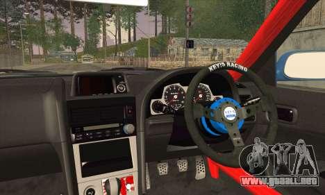 Nissan Skyline GTR34 para GTA San Andreas vista posterior izquierda