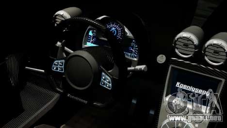 Koenigsegg Agera R 2013 PJ4 para GTA 4 visión correcta