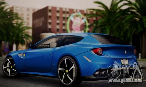 Ferrari FF 2012 para GTA San Andreas vista posterior izquierda