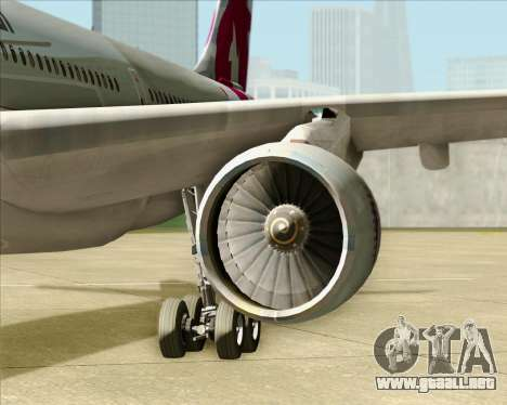 Airbus A330-300 Qatar Airways para visión interna GTA San Andreas
