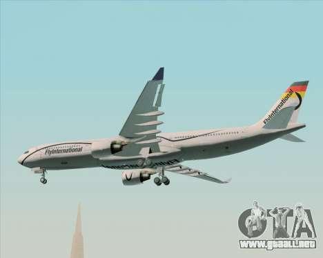 Airbus A330-300 Fly International para visión interna GTA San Andreas