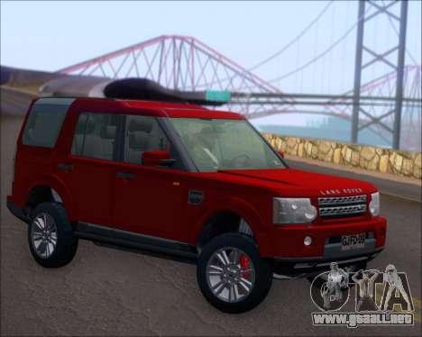 Land Rover Discovery 4 para la visión correcta GTA San Andreas