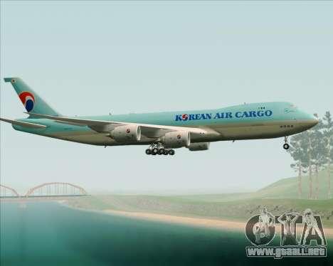 Boeing 747-8 Cargo Korean Air Cargo para vista lateral GTA San Andreas