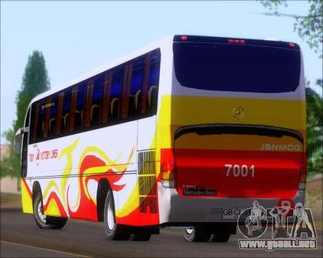 Marcopolo Victory Liner 7001 para la vista superior GTA San Andreas