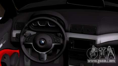 BMW M3 E46 Cabrio para GTA San Andreas vista posterior izquierda