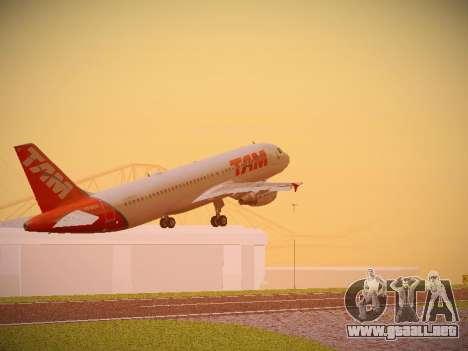 Airbus A320-214 TAM Airlines para GTA San Andreas vista hacia atrás