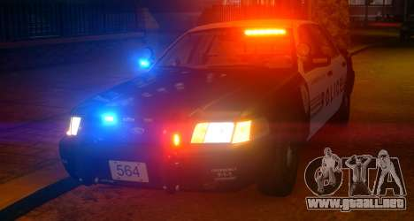 Ford Crown Victoria LCPD [ELS] Slicktop para GTA 4 left