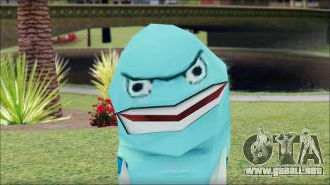 Blufish from Sponge Bob para GTA San Andreas tercera pantalla