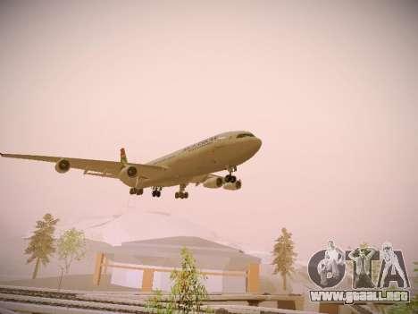 Airbus A340-300 South African Airways para la visión correcta GTA San Andreas