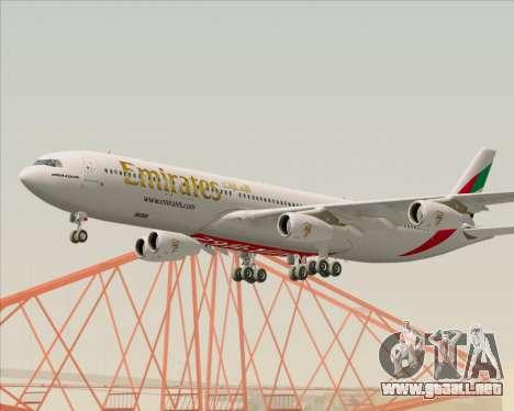 Airbus A340-313 Emirates para visión interna GTA San Andreas