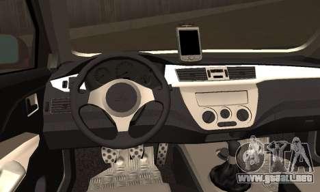Mitsubishi Lancer Evo 8 para GTA San Andreas vista posterior izquierda