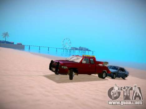 Dodge Ram Tow-Truck para GTA San Andreas vista hacia atrás