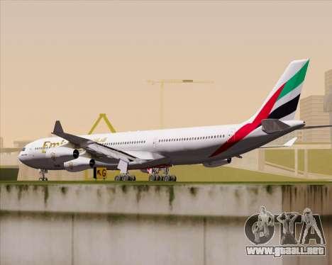 Airbus A340-313 Emirates para la visión correcta GTA San Andreas