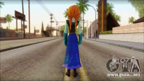 Princess Anna (Frozen) para GTA San Andreas segunda pantalla