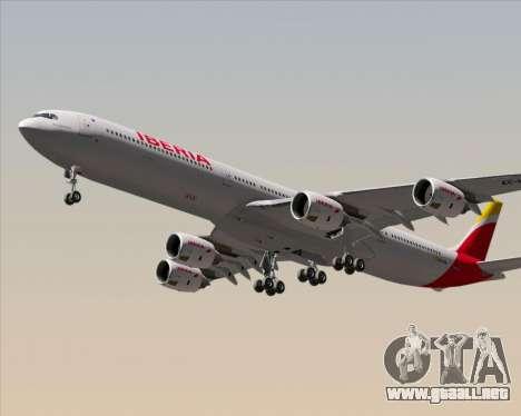 Airbus A340-642 Iberia Airlines para la visión correcta GTA San Andreas