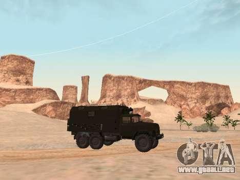 ZIL 131 Kung para GTA San Andreas vista posterior izquierda