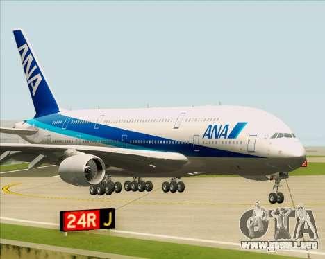 Airbus A380-800 All Nippon Airways (ANA) para GTA San Andreas left