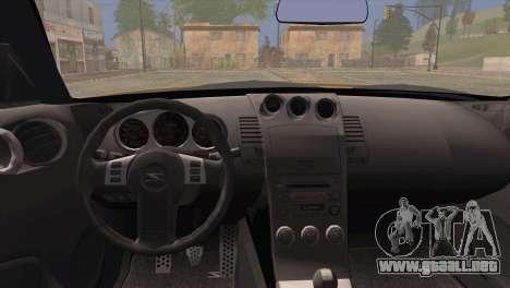 Nissan 350Z Turkey Tuned Drift para GTA San Andreas vista posterior izquierda