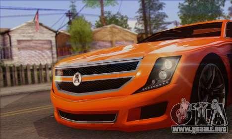 Alpha - DLC Business GTA V para GTA San Andreas vista posterior izquierda