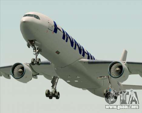 Airbus A330-300 Finnair (Current Livery) para vista lateral GTA San Andreas