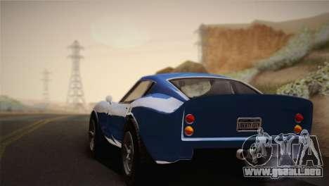 GTA 5 Stinger GT para GTA San Andreas vista posterior izquierda