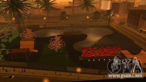 La textura de la pista de patinaje y un hospital para GTA San Andreas segunda pantalla