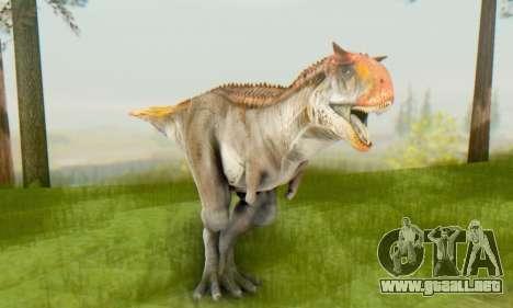 Carnotaurus para GTA San Andreas sucesivamente de pantalla