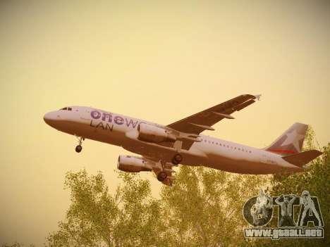 Airbus A320-214 LAN Oneworld para la vista superior GTA San Andreas