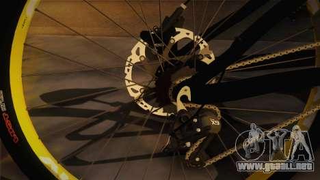 Banshee Rampant Bike para GTA San Andreas vista posterior izquierda