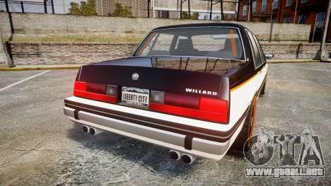 Willard Watch Dogs Black Viceroys para GTA 4 Vista posterior izquierda