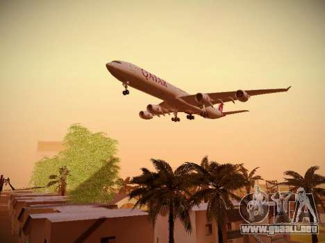 Airbus A340-600 Qatar Airways para visión interna GTA San Andreas