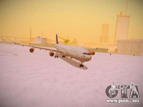 Airbus A340-300 Scandinavian Airlines para la vista superior GTA San Andreas