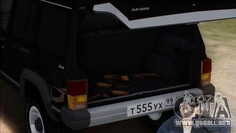 Jeep Cherokee para la vista superior GTA San Andreas