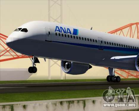 Boeing 787-9 All Nippon Airways para la vista superior GTA San Andreas