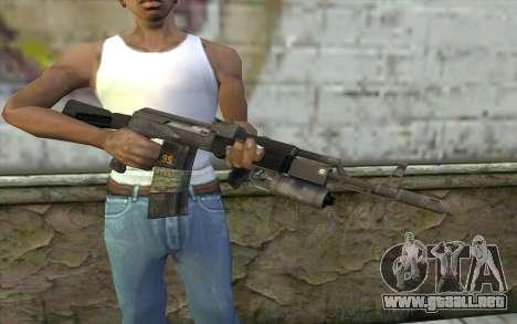 El AK-101 con seguro a nuestro (Battlefield 2) para GTA San Andreas tercera pantalla