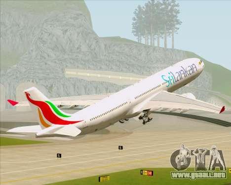 Airbus A330-300 SriLankan Airlines para las ruedas de GTA San Andreas