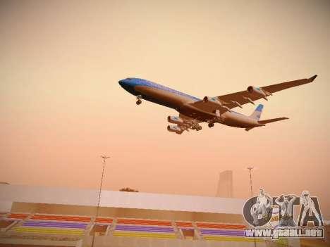 Airbus A340-300 De Aerolíneas Argentinas para vista inferior GTA San Andreas