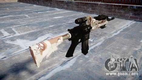 Automatic rifle Colt M4A1 choco para GTA 4 segundos de pantalla