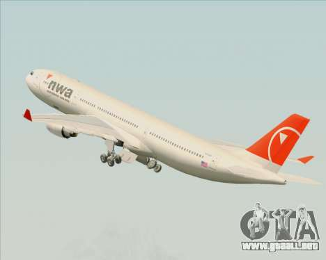Airbus A330-300 Northwest Airlines para GTA San Andreas