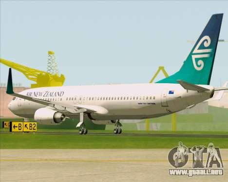 Boeing 737-800 Air New Zealand para la visión correcta GTA San Andreas
